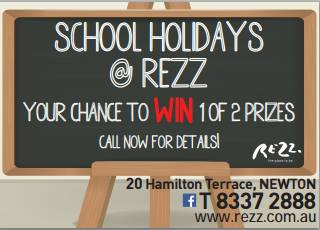 rezz school holidays NEW
