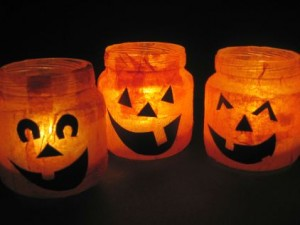 halloween-craft votives