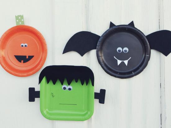 Halloween Crafts Made With Paper Plates