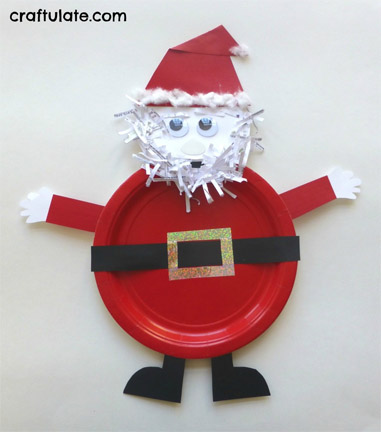 Paper-plate-Santa-craft-from-Craftulate