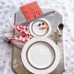 christmas dinner snowman