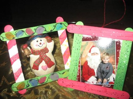 Kids christmas craft ideas little lattes for Popsicle stick picture frame christmas