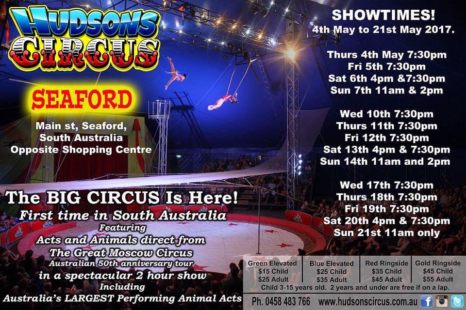 hudsons circus seaford prices